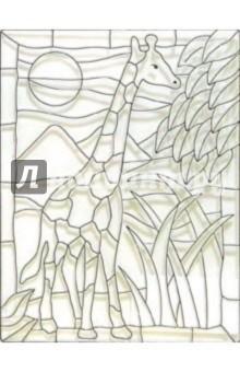 Витраж пластиковый Жираф /18678