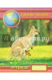 Тетрадь 48 листов, клетка 489-492 (животные)