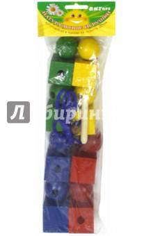 Бусы геометрические цветные (Ш-042)Другие игрушки для малышей<br>Цель игры: развитие мелкой моторики, освоение навыков шнуровки.<br>Для детей от 3 лет. <br>Материал - дерево.<br>