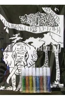 Бархатная раскраска: Слон (1527)