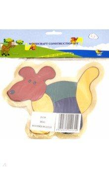 Собака (D159)Сборные 2D модели и картинки из дерева<br>Сборная модель. <br>Игрушка предназначена для детей старше 3 лет. <br>Срок годности 5 лет. <br>Производство: Китай.<br>Материал: дерево.<br>