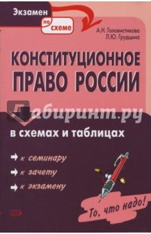Головистикова А. Н., Грудцына Л. Ю. Конституционное право России в схемах и таблицах.
