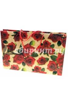 Пакет подарочный Р3 Букет роз (40х25х9)