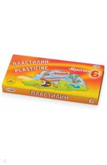 "Пластилин ""Мультики"" со стеком, 6 цветов (280015) Гамма"