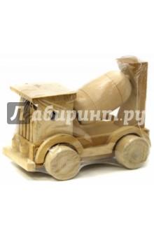 Бетоновоз: Сборная модельМашины-игрушки<br>Игрушка деревянная - бетоновоз.<br>Изготовлено из натуральной древесины.<br>Не окрашено и не лакировано.<br>Размер: 177х126 мм.<br>Для детей дошкольного возраста.<br>Производство: Китай.<br>
