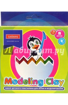 Набор пластилина 8 цветов в картонной коробке (BX-454-8)