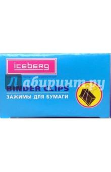Зажимы для бумаги  металлические 32 мм 12 штук (ГЗА257)