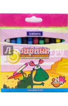 Набор восковых мелков 24 цвета (ГОЖ798 ZY-0824)