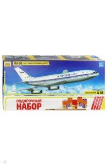 Советский пассажирский авиалайнер Ил-86 (М:1/144) 7001ППластиковые модели: Авиатехника (1:144)<br>Пассажирский авиалайнер Ил-86 Самолет Ил-86 является первым серийным отечественным широкофюзеляжным пассажирским самолетом. К разработке Ил-86 ОКБ им. С. В. Ильюшина приступило в начале 1970-х гг. Первый полет опытного самолета состоялся в конце 1976 г. Аэробус Ил-86 начал эксплуатироваться авиакомпанией Аэрофлот начиная с 1980 г. Является одним из основных самолетов используемых на Российских авиалиниях. Модель собственной разработки, в наборе комплект высококачественных деталей Аэрофлот.<br>Набор деталей для сборки одной модели корабля + клей, кисточка и четыре краски.<br>Масштаб 1/144.<br>Не давать детям до 3-х лет из-за наличия мелких деталей.<br>Моделистам младше 10 лет рекомендуется помощь взрослых.<br>Соответствует требованиям безопасности.<br>
