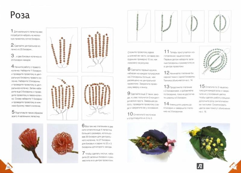 Иллюстрация 1 из 17 для Цветы из бисера - Кристанини, Страбелло   Лабиринт - книги. Источник: Лабиринт