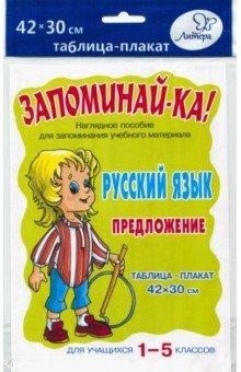 Русский язык. Предложение. Для учащихся 1-5 классов