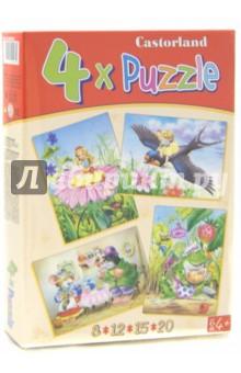 "Puzzle-8х12х15х20 ""Дюймовочка"" (4 в 1) (В-04034)"