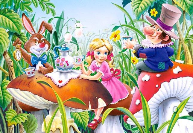 Иллюстрация 1 из 8 для Puzzle-25. Алиса в стране чудес (В-25060) | Лабиринт - игрушки. Источник: Лабиринт