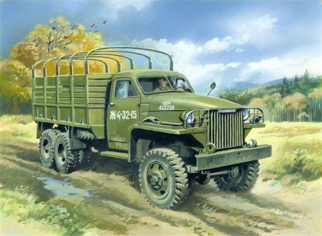 Иллюстрация 1 из 2 для 35511 Studebaker US6 армейский грузовой автомобиль | Лабиринт - игрушки. Источник: Лабиринт