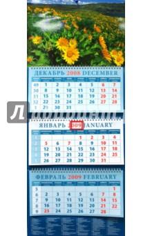 Календарь 2009 Пейзаж с подсолнухами (14819)
