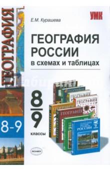 География России: 8-9 классы: в схемах и таблицах