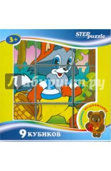 9 кубиков Любимые мультфильмы-1 (87309)Кубики с картинками<br>Набор кубиков с картинками любимых мультфильмов<br>Количество: 9 штук.<br>Материал: пластмасса.<br>Для детей старше 3 лет.<br>