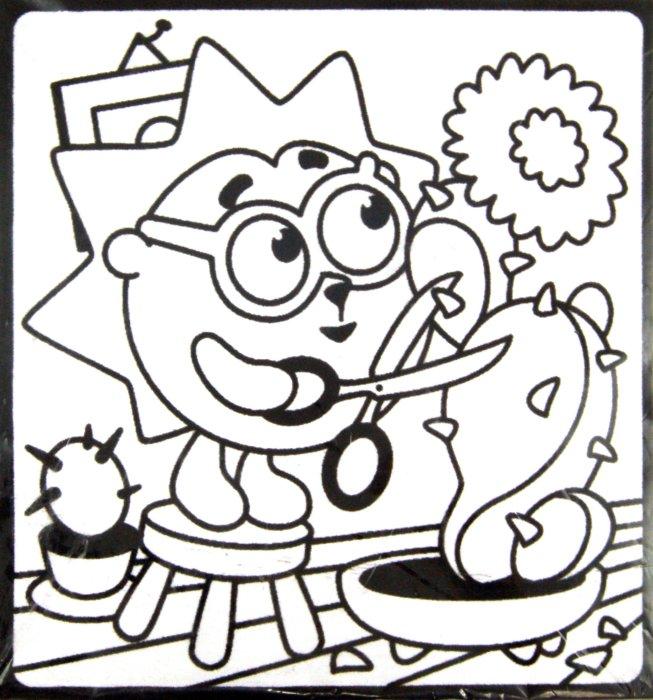 Иллюстрация 1 из 4 для Бархатная картинка-мини. Кактус Ежика | Лабиринт - игрушки. Источник: Лабиринт