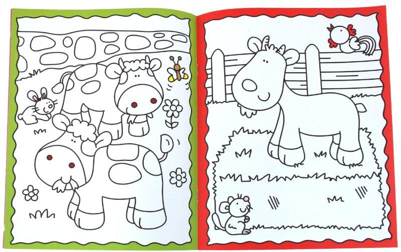 Иллюстрация 1 из 6 для Умные раскраски для малышей: На ферме   Лабиринт - книги. Источник: Лабиринт
