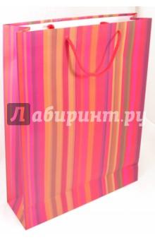 """Пакет подарочный """"Полоска pink"""""""