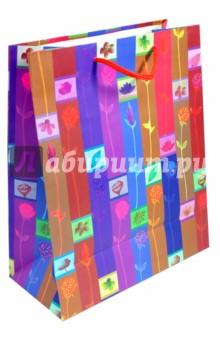 """Пакет подарочный """"Полоска цветочная"""""""