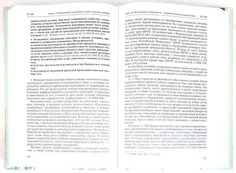 Иллюстрация 1 из 6 для Комментарий к уголовно-исполнительному кодексу Российской Федерации | Лабиринт - книги. Источник: Лабиринт