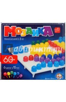 Мозаика 60 элементов, 6 цветов (00963)Мозаика<br>Мозаика.<br>Развивает пространственное воображение, творческое мышление и зрительную память, мелкую моторику ребенка.<br>Состоит из 60 элементов.<br>6 цветов.<br>