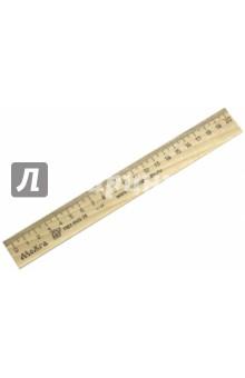 Линейка деревянная, 20 см. (С05) МД НП Красная звезда