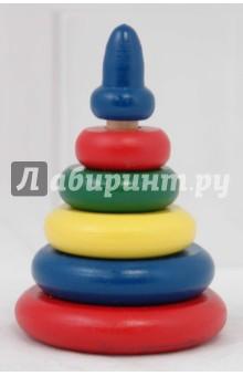 Пирамидка разноцветная (6 деталей) (Д-375)
