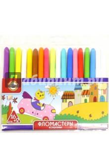 Фломастеры волшебные  16 + 2 цветов (7303/16+2)Фломастеры 18 цветов (15—20)<br>Набор фломастеров в блистере (18 штук, 16 + 2 цветов).<br>В набор входят 16 волшебных фломастеров и 2 фломастера-проявителя.<br>- вентилируемый колпачок<br>- твердый наконечник с диаметром 2 мм.<br>Из-за наличия мелких деталей не рекомендовано детям младше 3-х лет.<br>Производство: Чехия.<br>
