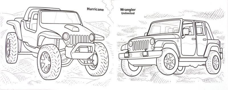 Раскраска онлайн для мальчиков машины джипы - 8