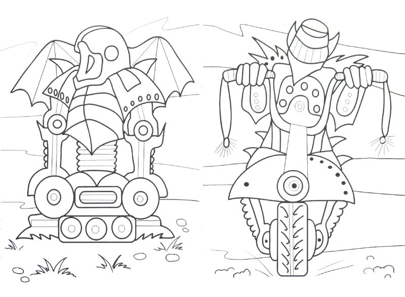 Иллюстрация 1 из 5 для Раскраска: Киборги   Лабиринт - книги. Источник: Лабиринт