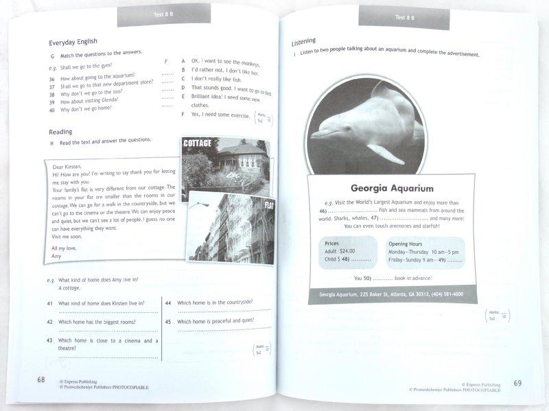 Контрольные задания.  2 класс.  Spotlight 2 Test Booklet.  Быкова Н.И. - Английский язык Учебные пособия для.