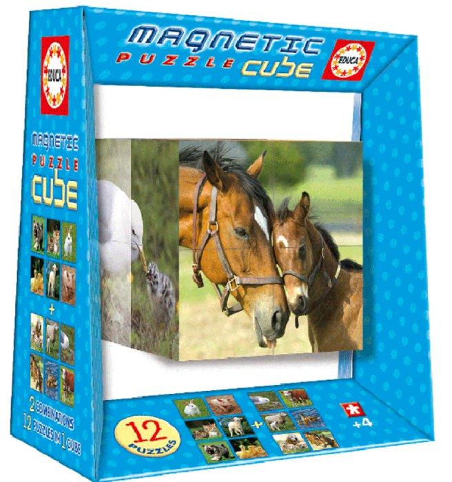 """Иллюстрация 1 из 15 для Магнитные кубики-пазлы """"Домашние животные"""" (8 кубиков, 12 пазлов) (14032)   Лабиринт - игрушки. Источник: Лабиринт"""