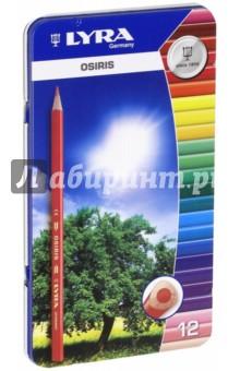 Карандаши цветные в металлической коробке (12 цветов) (2521133) ()