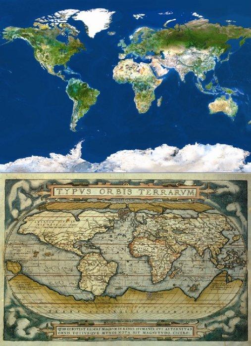 Иллюстрация 1 из 3 для Пазл-1000 Карты мира (2 по 1000 в 1) (13296)   Лабиринт - игрушки. Источник: Лабиринт