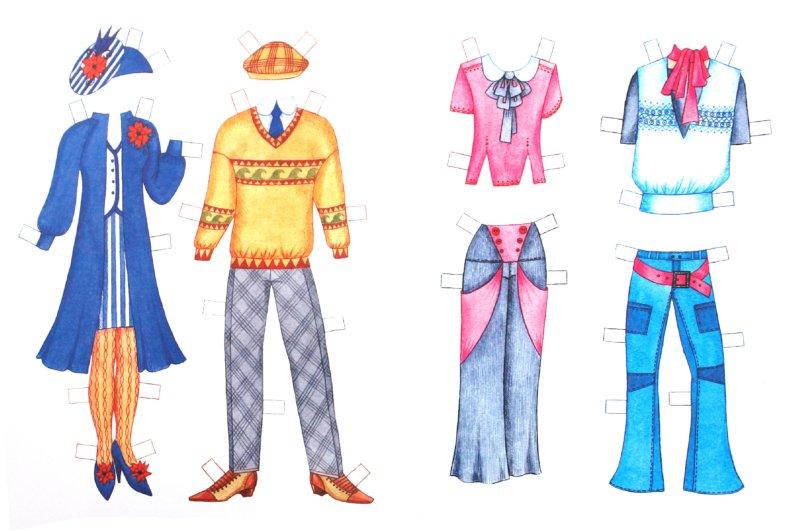 Иллюстрация 1 из 4 для Бумажная кукла: Полина и Витя   Лабиринт - книги. Источник: Лабиринт