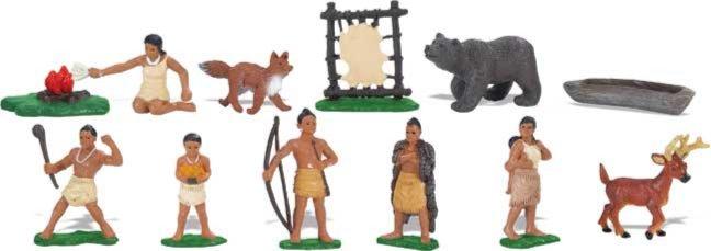 Иллюстрация 1 из 12 для Поухатанские индейцы, 12 фигурок (680304) | Лабиринт - игрушки. Источник: Лабиринт