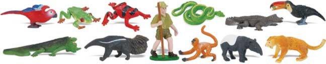 Иллюстрация 1 из 16 для Тропический лес, 12 фигурок (680504)   Лабиринт - игрушки. Источник: Лабиринт