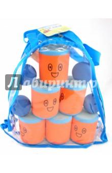 Игрушка Городки, 6 банок (AT-02N(B))Игры для активного отдыха<br>Спортивная игрушка из вспененной резины.<br>В наборе: 6 банок, 4 мяча для сбивания фигур.<br>Правила игры: игра в городки заключается в выбивании фигур, построенные из трех и более городков (банок), мячами с определенного расстояния.<br>Возраст: от 3-х лет.<br>Производитель: Таиланд. <br>Срок службы 3 года.<br>Упаковка: прозрачная сумочка с молнией.<br>