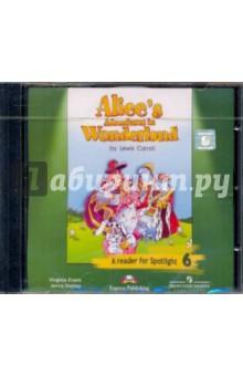 """Дули Дженни, Эванс Вирджиния Английский в фокусе. """"Алиса в стране чудес"""" (По Л. Кэрролу). Аудиокурс к книге для чтения. 6 кл (CD)"""