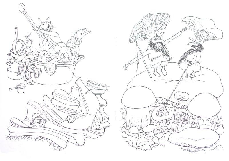 Иллюстрация 1 из 15 для Петсон и Финдус. Раскраска | Лабиринт - книги. Источник: Лабиринт
