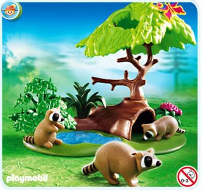 Иллюстрация 1 из 11 для Еноты у пруда (4205) | Лабиринт - игрушки. Источник: Лабиринт