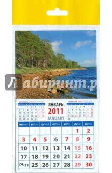 """Календарь 2011 """"Пейзаж с соснами и озером"""" (20122)"""