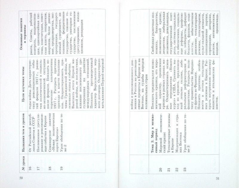 истории таблицы по 10 волобуева гдз класс