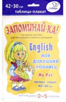 Английский. Мой домашний любимец. Для учащихся 2-5 классов. Плакат
