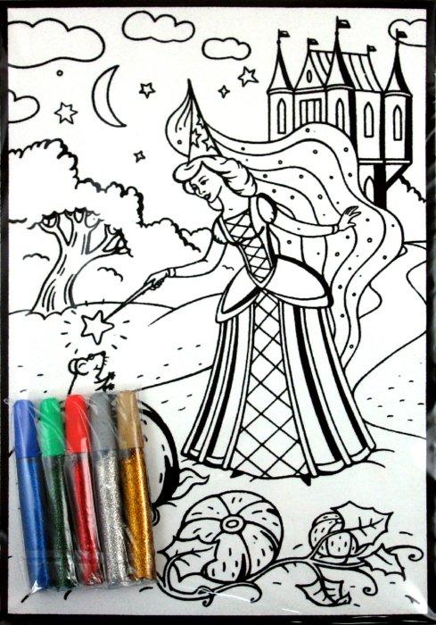 Иллюстрация 1 из 7 для Бархатные раскраски. Фея (1637) | Лабиринт - игрушки. Источник: Лабиринт