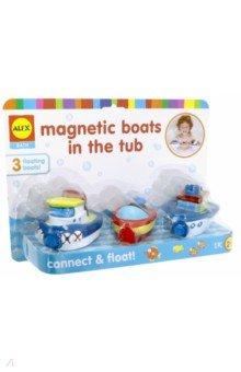 """Игрушки для ванны """"Магнитные лодки"""" 3 штуки на буксире (823W) ALEX"""