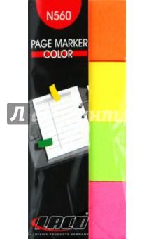 Закладки 4 цвета по 40 листов, 20х50 мм  (№560)