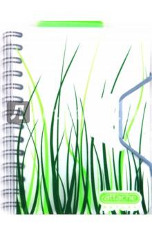 "Записная книжка Nature А6, 80 листо, клетка ""Трава"" (102441)"